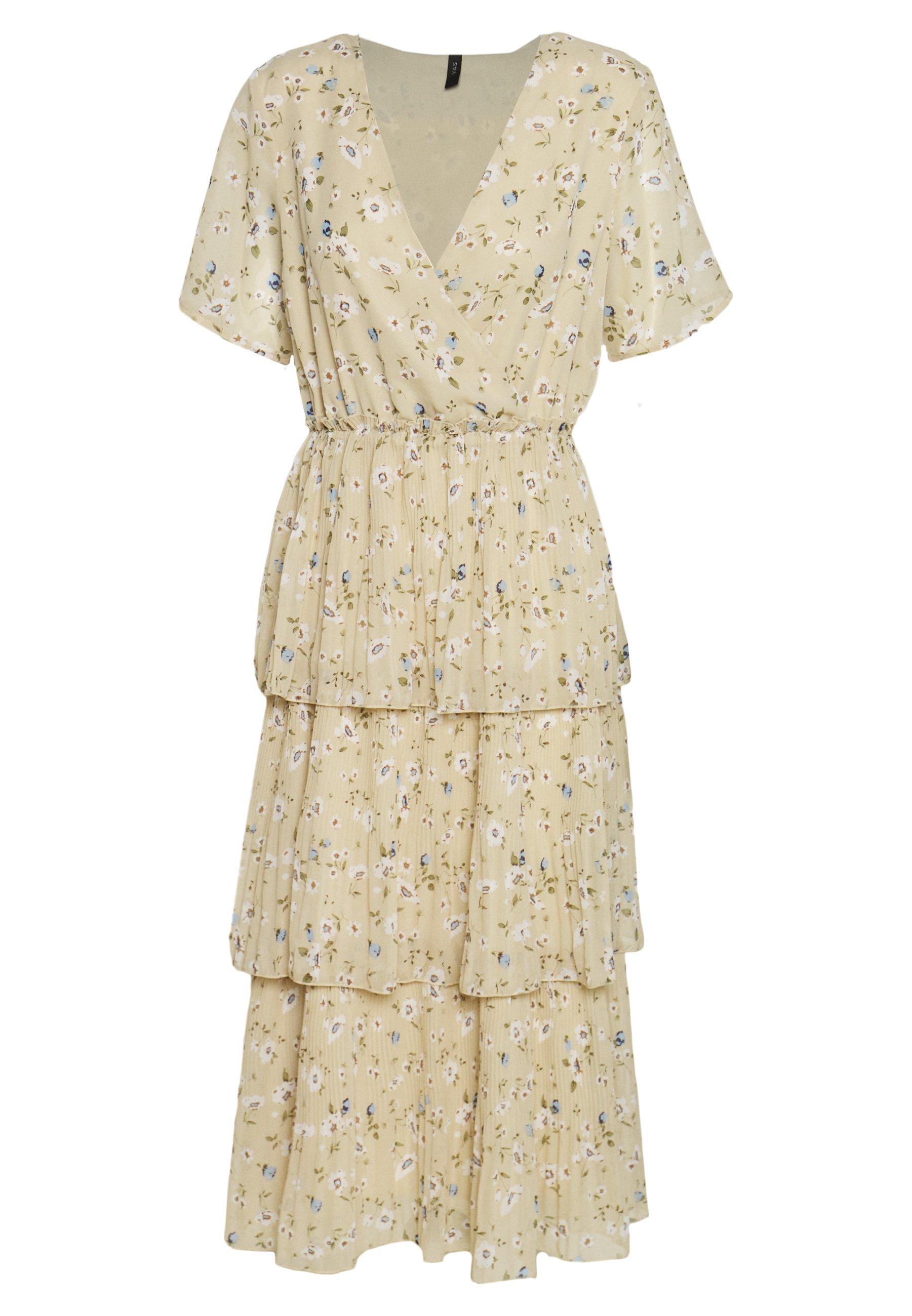 YAS YASFLORIA LONG DRESS - Day dress - oatmeal