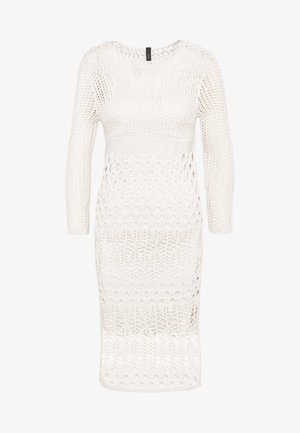 YASHARPER MIDI DRESS - Vestido de punto - antique white