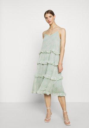 YASALICE STRAP MIDI DRESS SHOW - Day dress - misty jade