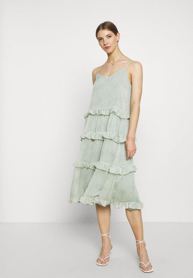 YASALICE STRAP MIDI DRESS SHOW - Vestido informal - misty jade
