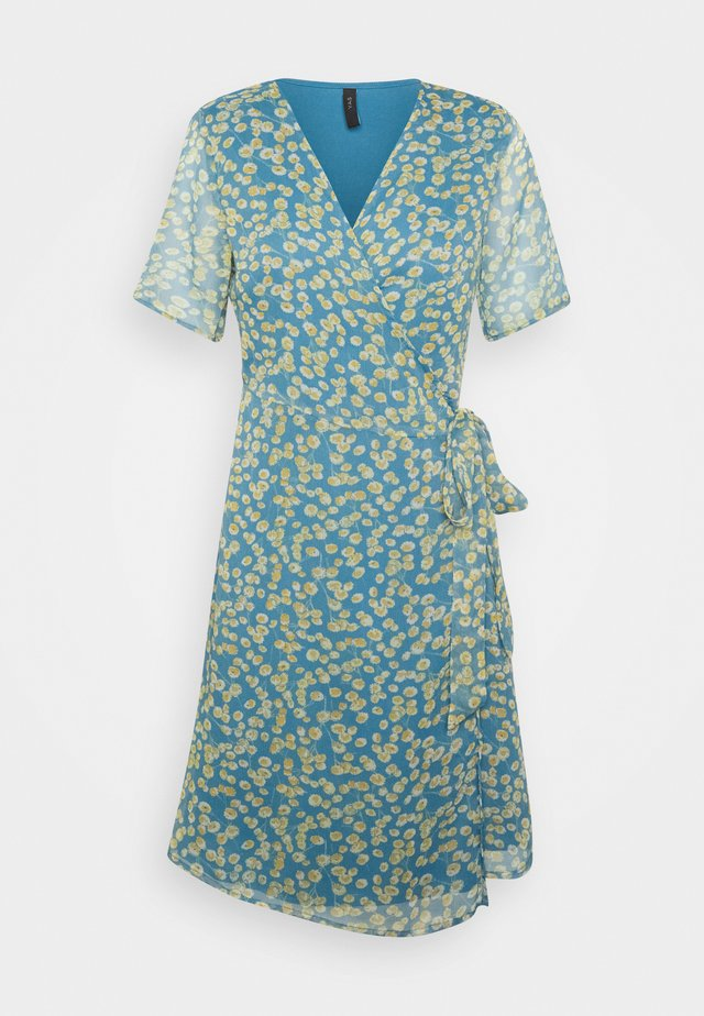 YASCLARIS SUMMER WRAP DRESS  - Hverdagskjoler - blue heaven/claris