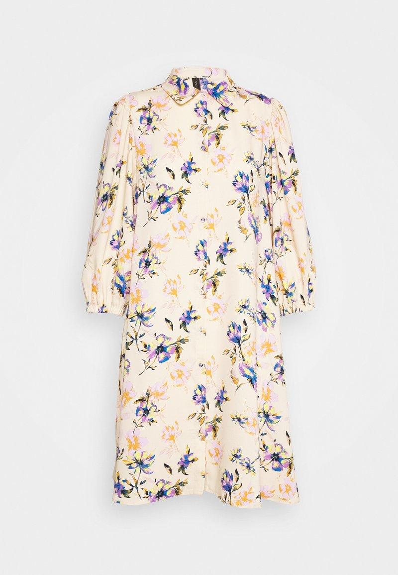 YAS - YASSOPHIA SHIRT DRESS - Blusenkleid - light yellow