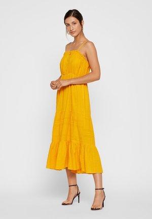 Korte jurk - golden rod