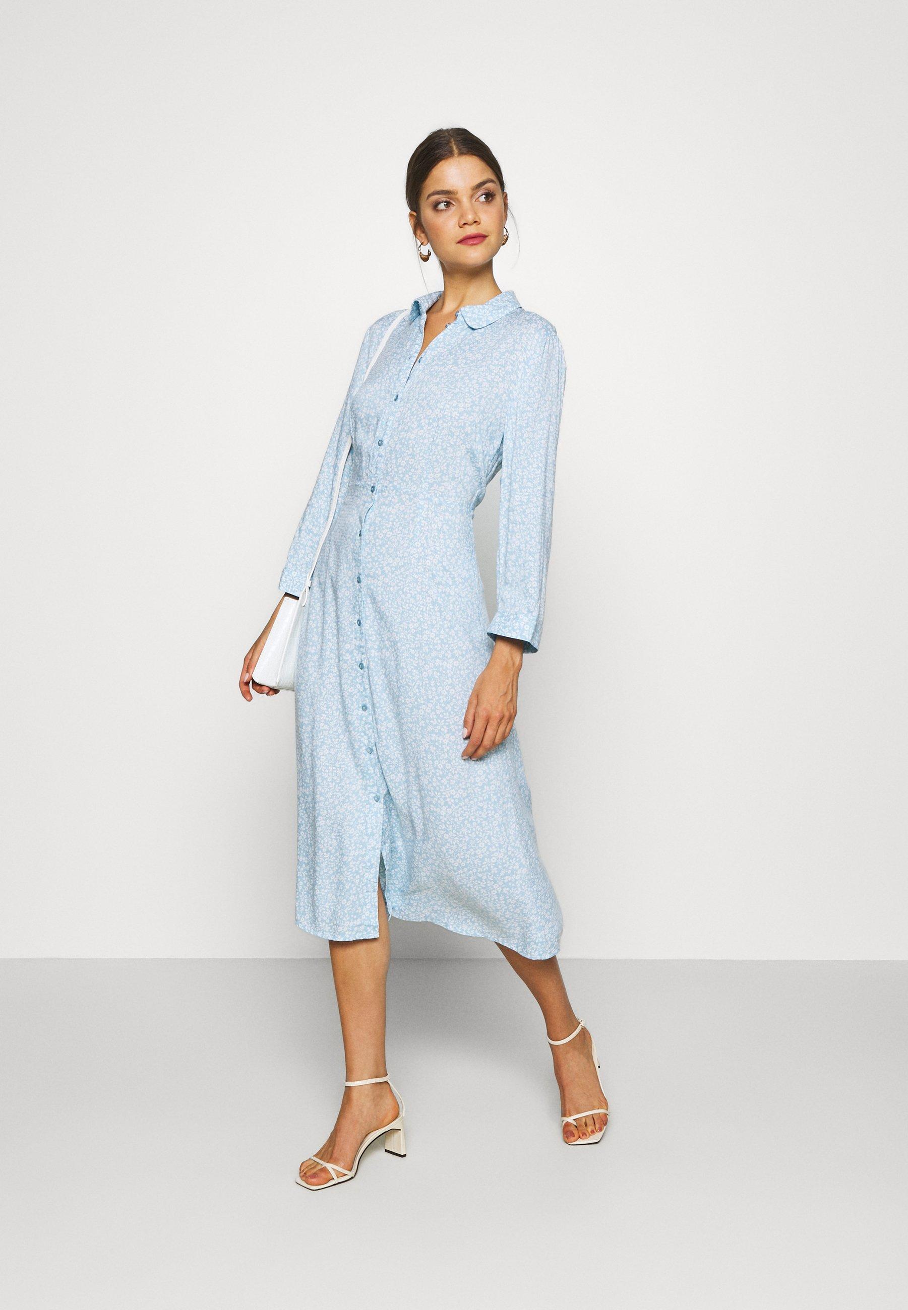 YAS JANICE - Skjortekjole - cool blue