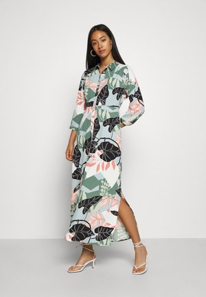 YASIVY 3/4 ANKLE DRESS - Shirt dress - gray mist/ivy