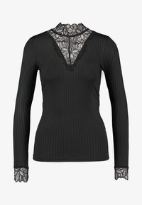YAS - YASBLACE HIGH NECK - Long sleeved top - black - 4