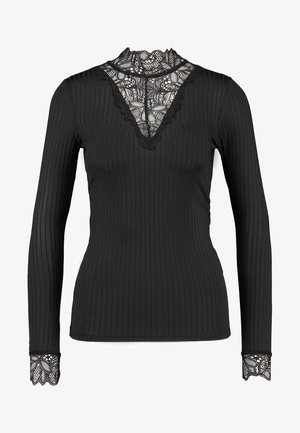 YASBLACE HIGH NECK - Langærmede T-shirts - black