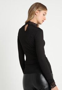 YAS - YASBLACE HIGH NECK - Long sleeved top - black - 2