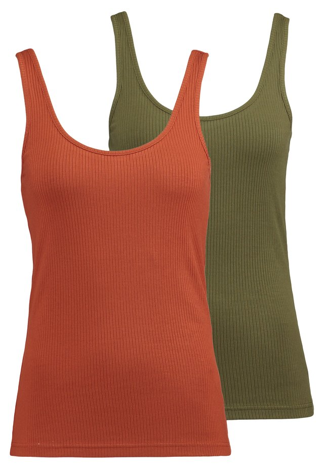 YASBLAX TANK ICONS 2 PACK - Top - beech/picante