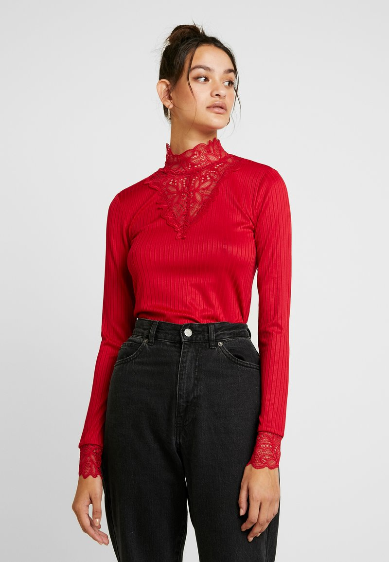 YAS - YASBLACE HIGHNECK  - Long sleeved top - chili pepper