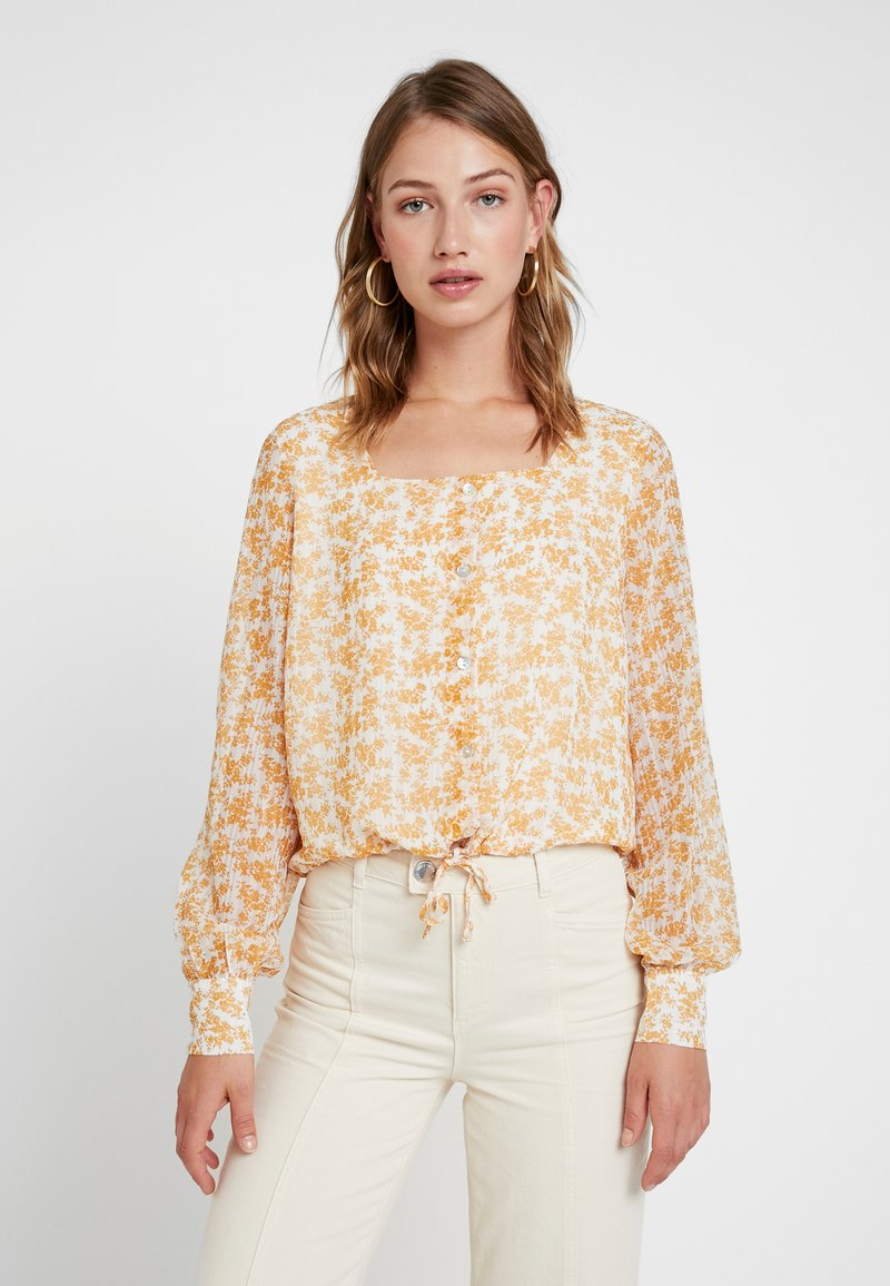 YAS - YASCHLOA SQUARE NECK - Bluse - star white