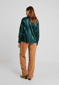 YAS - YASAUDREY LS BOW SHIRT  SHOW - Blusa - green gables - 2