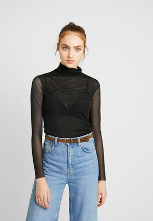 YASJESSA HIGH NECK - Blusa - black