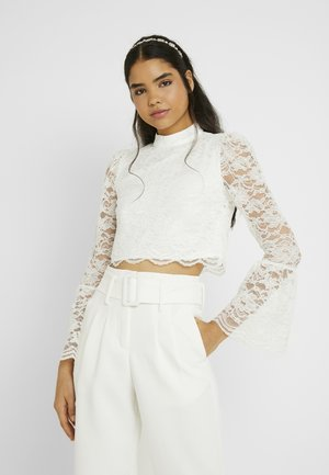 YASQUINN CROPPED - Blusa - star white