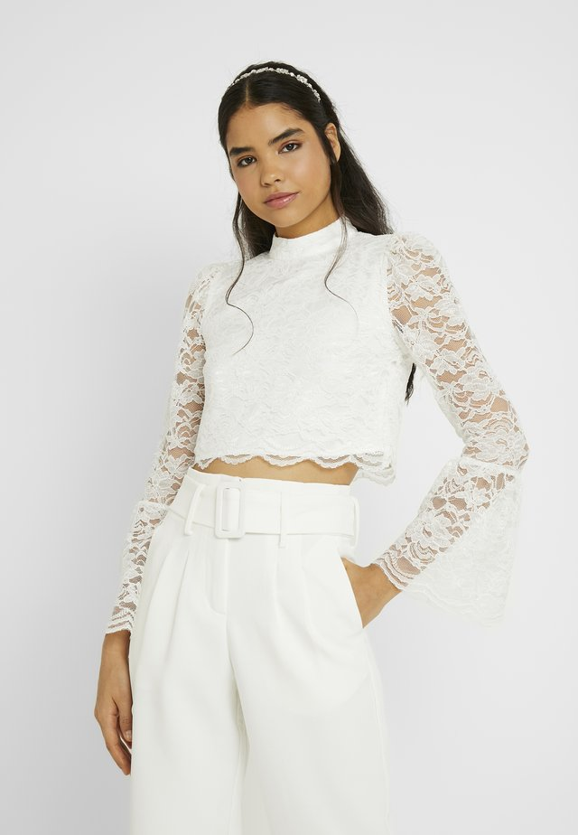 YASQUINN CROPPED - Blouse - star white