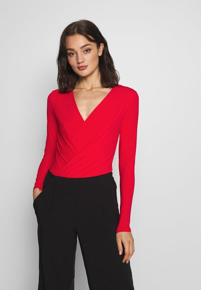 YASCARLA BODYSTOCKING - Pitkähihainen paita - fiery red