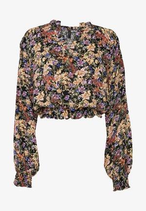 YASWINNY CROP TOP - Bluser - burnished lilac/burnished lilac
