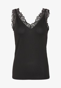 YAS - YASBLACE V NECK SINGLET - Top - black