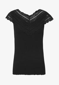 YAS - YASELLE CAP SLEEVE - T-shirts med print - black - 3