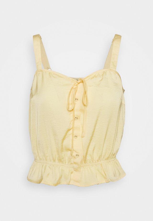 ELIN STRAP - Bluse - golden haze