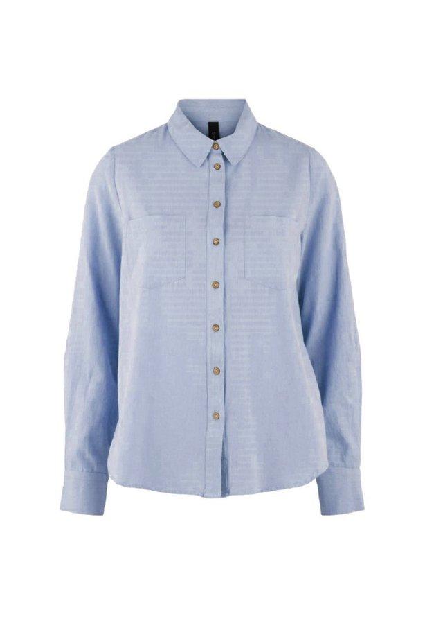 YASZIKKI - Button-down blouse - bel air blue