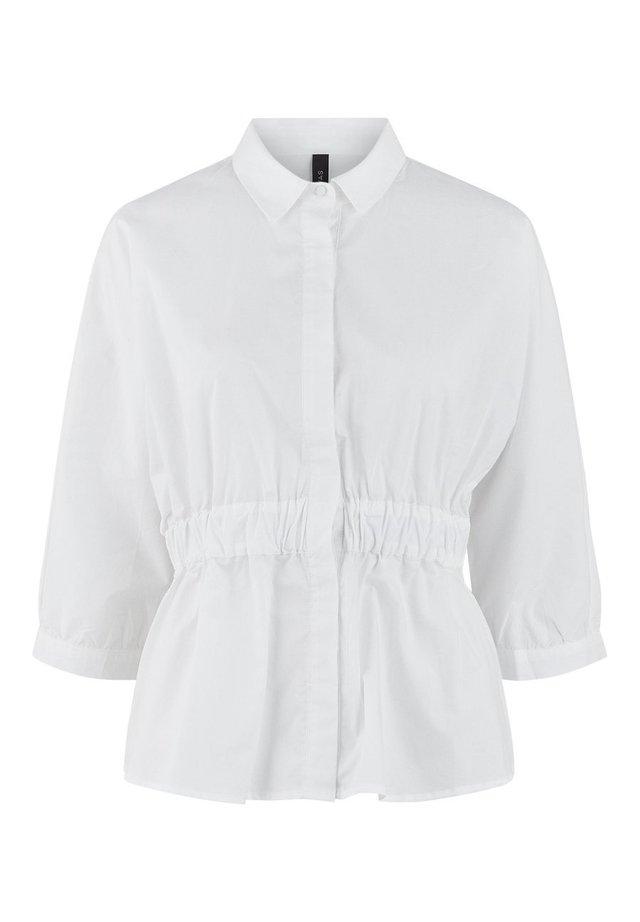 MIT 3/4 ÄRMELN YASDUNE - Button-down blouse - star white