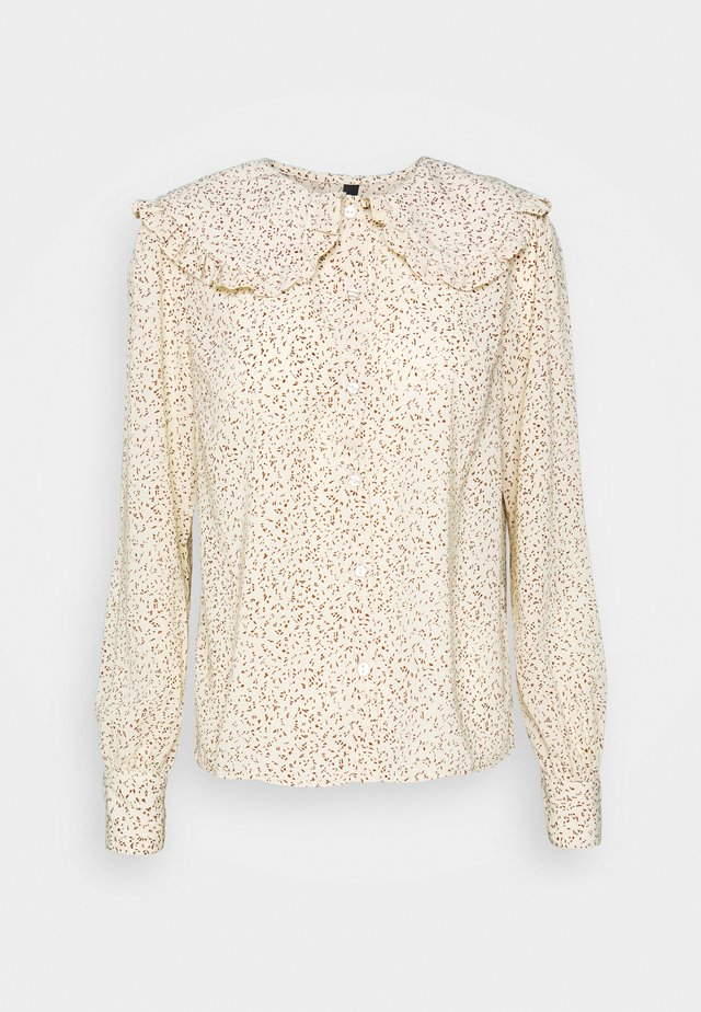 YASFILIPPA - Button-down blouse - seedpearl/toasted coconut