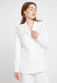 YAS - BRIDAL YASISSA - Krátký kabát - star white - 0