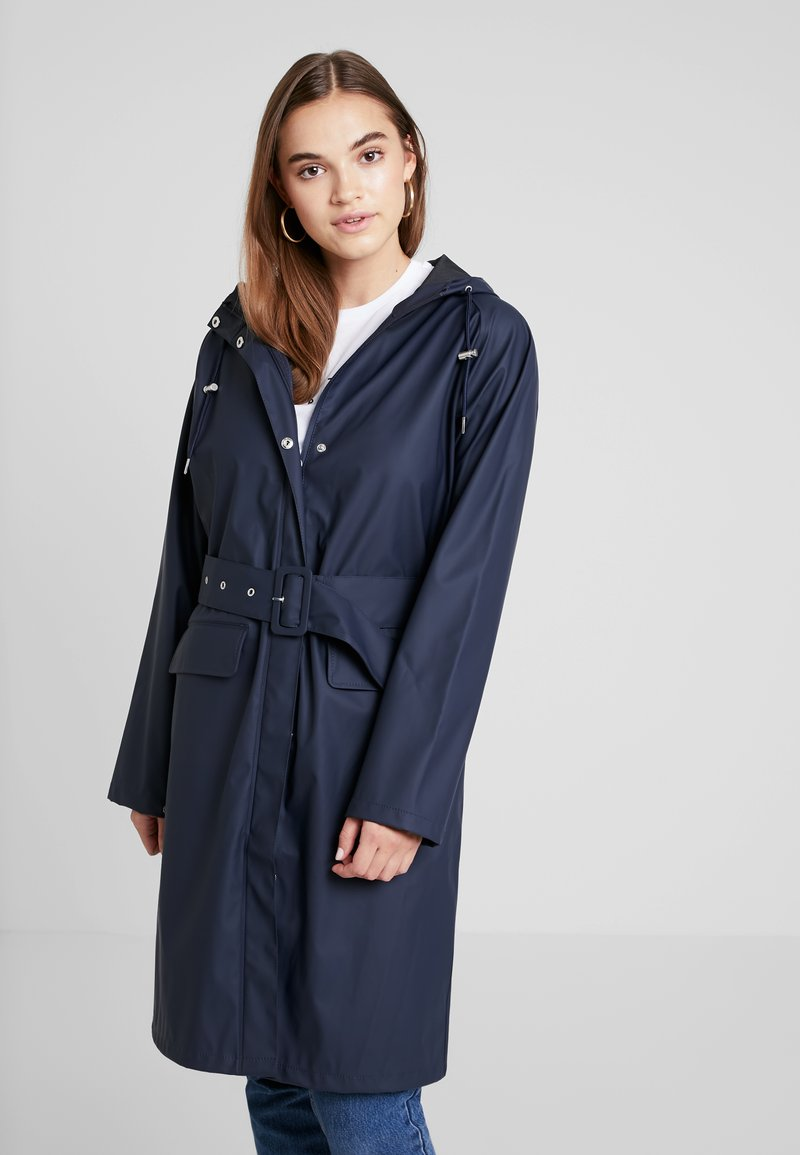 YAS - YASRIVER RAIN COAT - Regnjakke / vandafvisende jakker - navy blazer