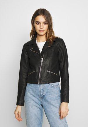 YASANDREA JACKET - Leather jacket - black