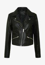YASANDREA JACKET - Kožená bunda - black