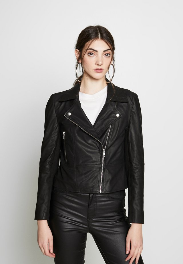 YASSOPHIE JACKET - Leather jacket - black