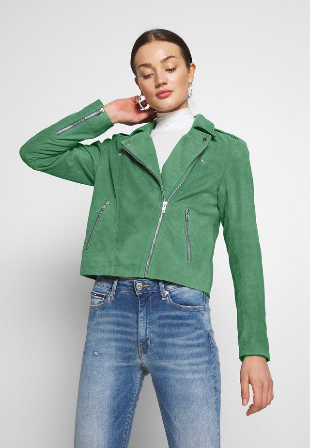 YASFULIA SUEDE JACKET - Leather jacket - greener pastures