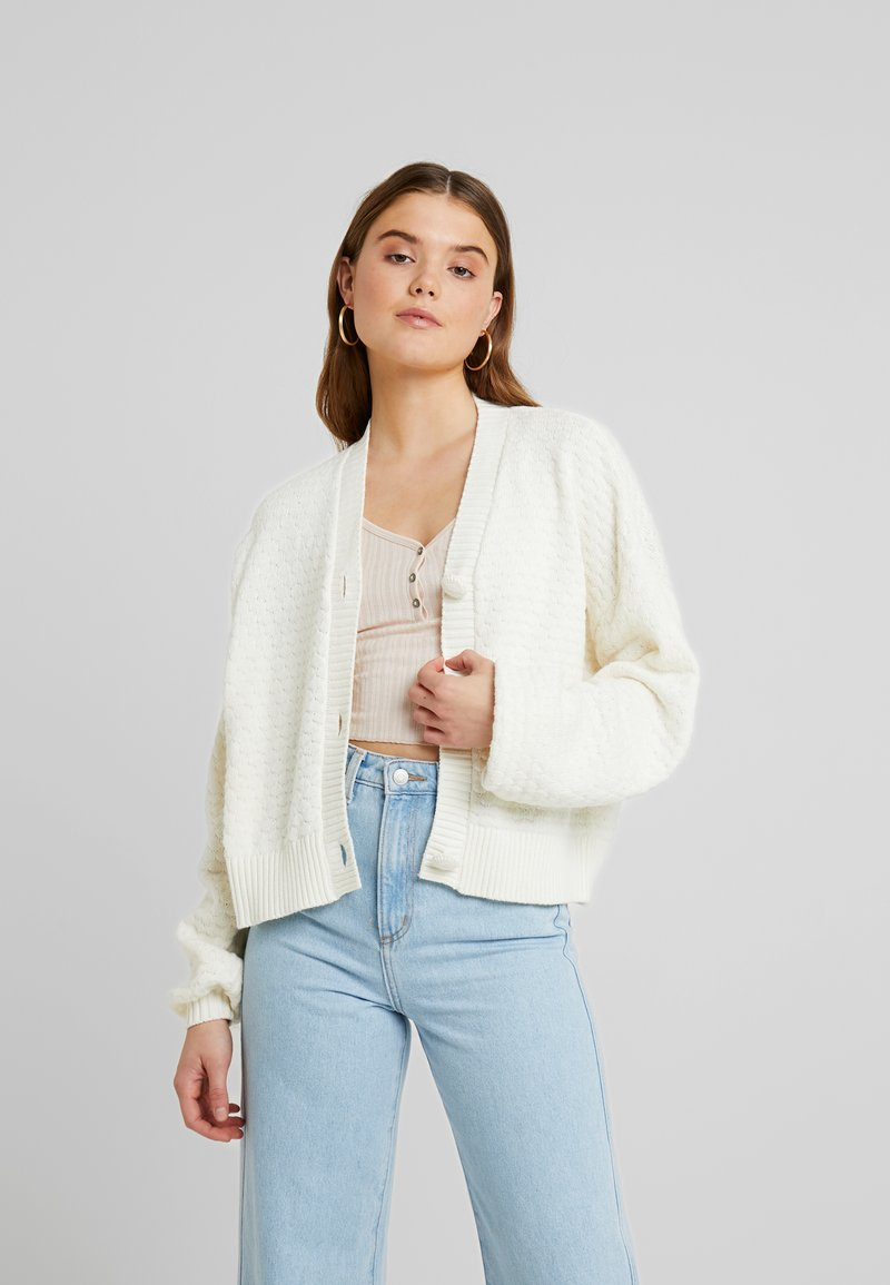 YAS - YASDOT CARDIGAN - Strickjacke - star white