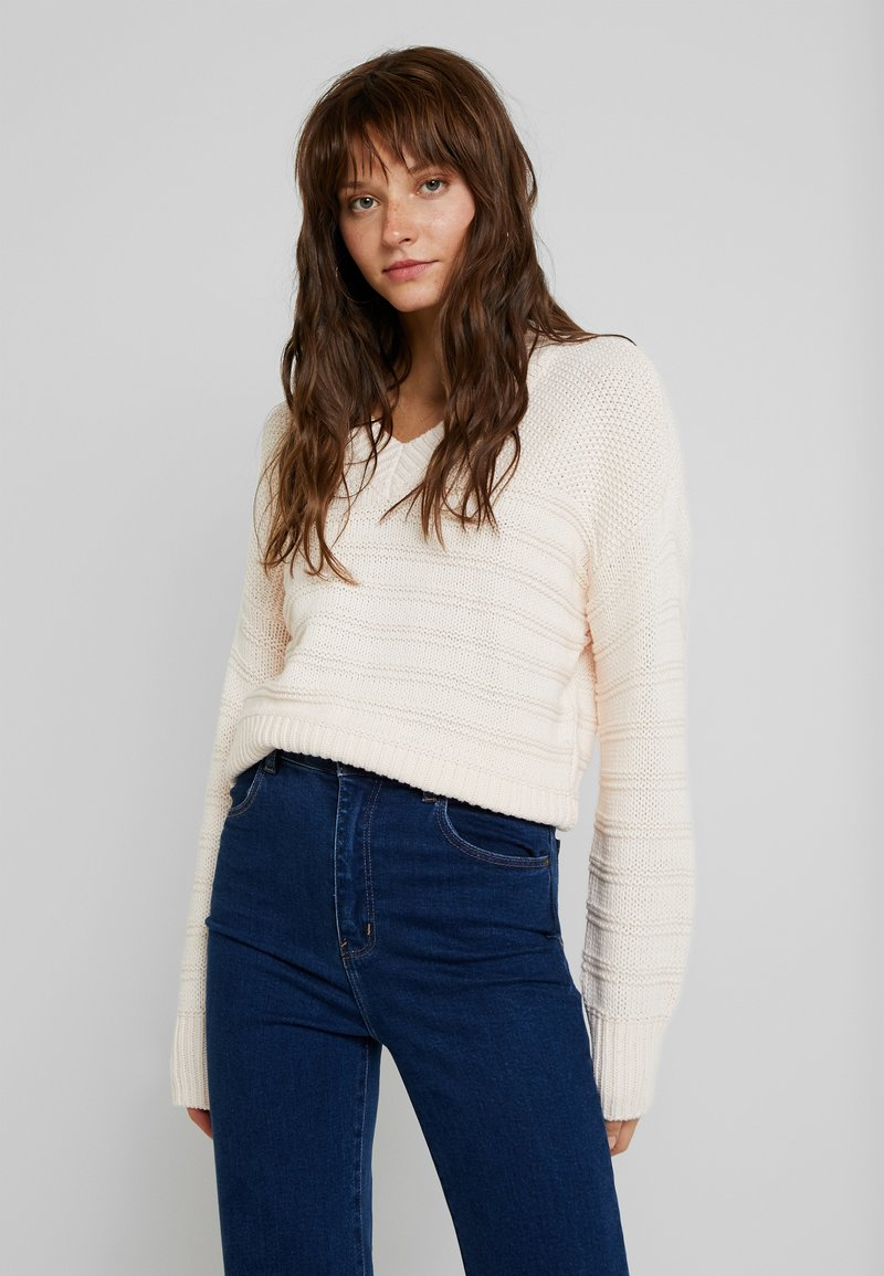 YAS - YASPEARL - Strickpullover - mother of pearl