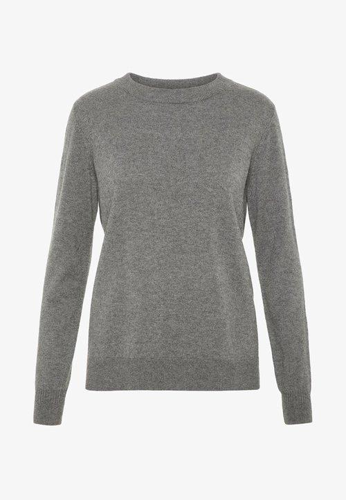 dobra jakość YAS YASMABEL ICONS - Sweter - dark grey melange Odzież Damska FIXH-XN6