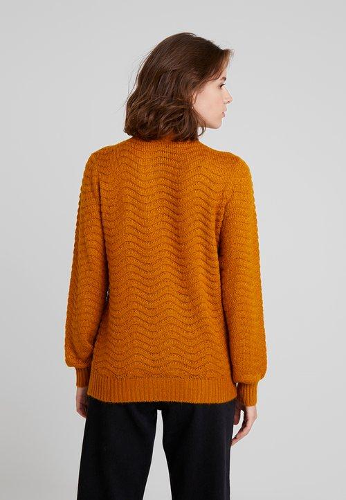 YAS YASBRENTRICE - Sweter - buckthorn brown Odzież Damska OFYM-RB7 70% ZNIŻKI