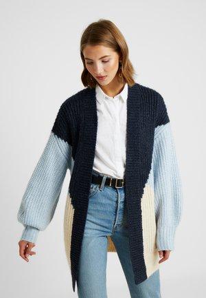YASOVALLI LONG CARDIGAN - Cardigan - heather/navy blazer