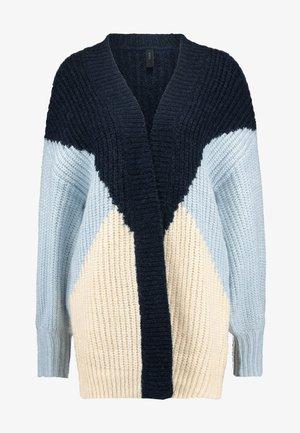 YASOVALLI LONG CARDIGAN - Gilet - heather/navy blazer