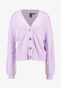 YAS - YASDUFFY CARDIGAN - Cardigan - pastel lilac - 4