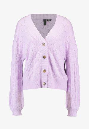 YASDUFFY CARDIGAN - Cardigan - pastel lilac