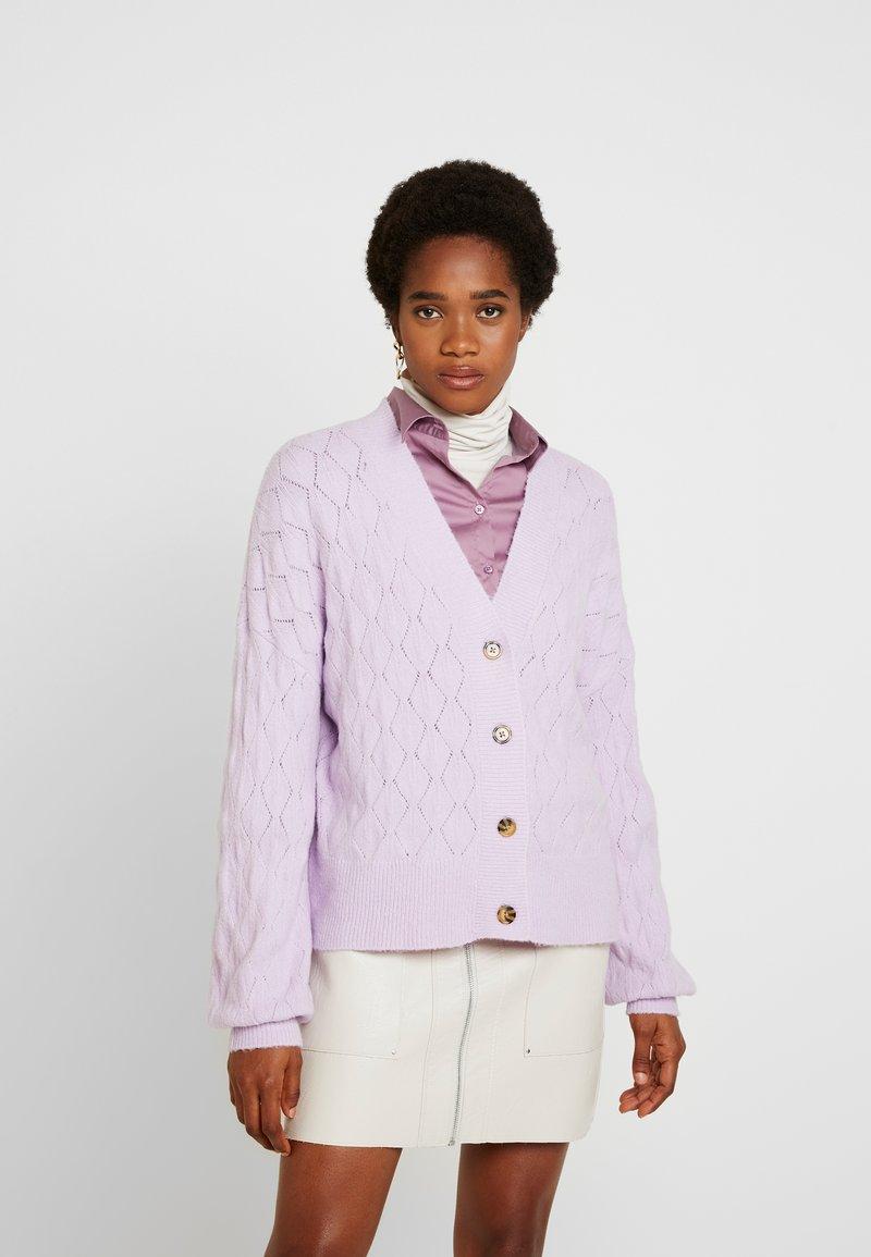 YAS - YASDUFFY CARDIGAN - Cardigan - pastel lilac