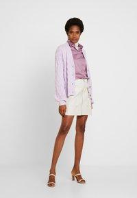 YAS - YASDUFFY CARDIGAN - Cardigan - pastel lilac - 1