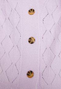 YAS - YASDUFFY CARDIGAN - Cardigan - pastel lilac - 5