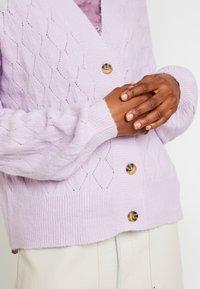 YAS - YASDUFFY CARDIGAN - Cardigan - pastel lilac - 3