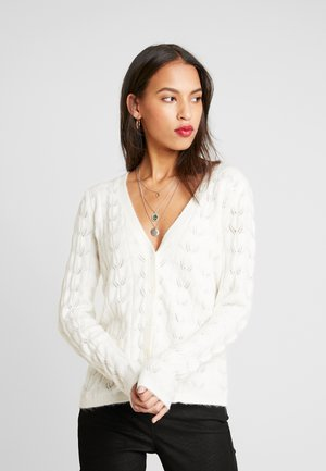 YASJOSLY CARDIGAN - Strickjacke - star white