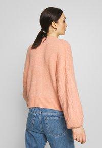 YAS - YASPIXIE KNIT CARDIGAN - Cardigan - coral pink - 2
