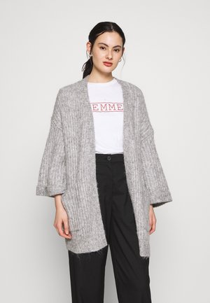 YASSUNDAY CARDIGAN - Neuletakki - light grey melange