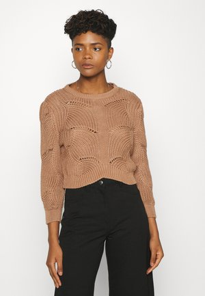 YASHELEN CROPPED  - Sweter - tawny brown
