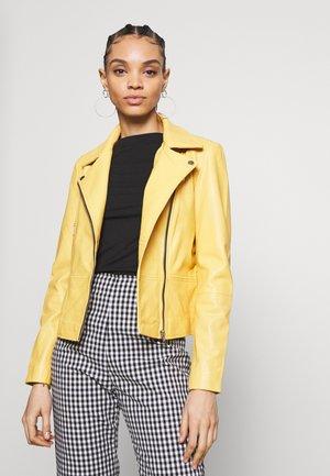 YASSOPHIE COLOR JACKET - Kožená bunda - misted yellow